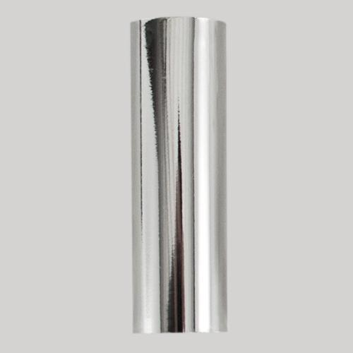 Guscio copri porta-lampada E14 cromo liscio in plastica h 100 mm (no nippel per attacco elettrico)