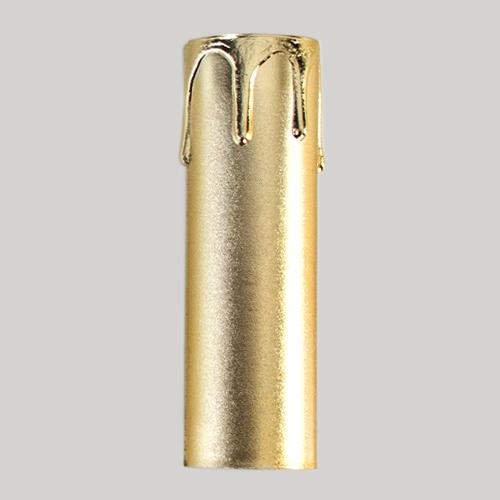 Guscio copri porta-lampada E14 guscio oro finta candela plastica h 100 mm