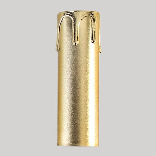 Guscio copri porta-lampada E14 guscio oro finta candela plastica h 85 mm