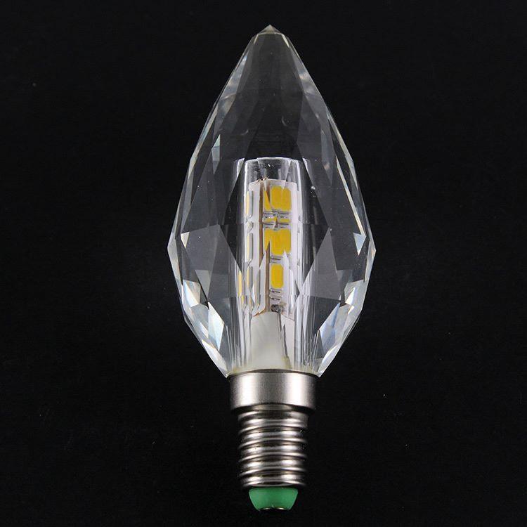 Lampadina E14 led in cristallo luce calda, 5 W 3000K