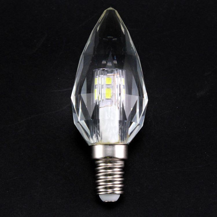 Lampadina E14 led in cristallo luce fredda, 4 W 5000K