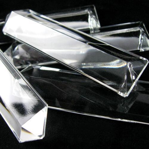Losanga a punta 76 mm pendente in vetro veneziano cristallino