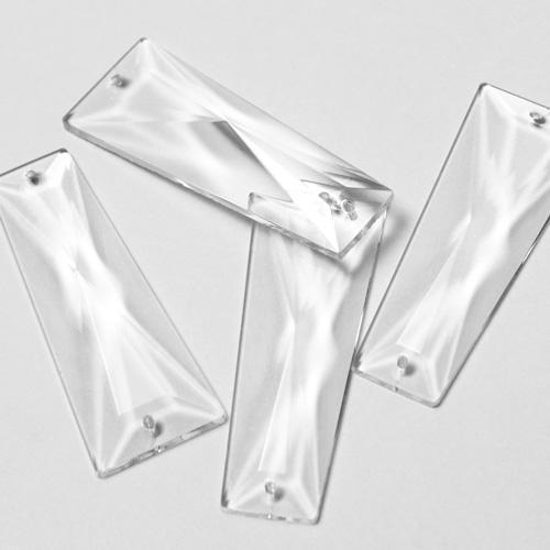 Losanga sfaccettata 55 mm cristallo Boemia, 2 fori