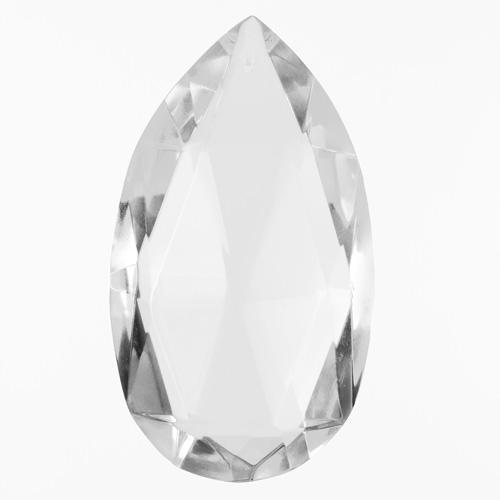 Mandorla goccia h100 mm cristallo Boemia originale colore puro. Pendente originale per lampadari antichi.