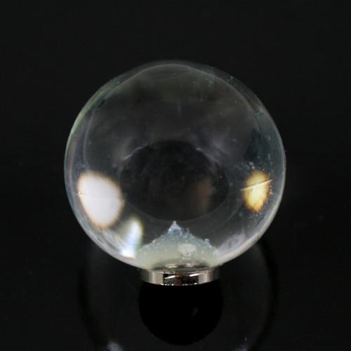 Maniglia pomello sfera cristallo Ø25 vetro di Murano con filettatura M4 femmina