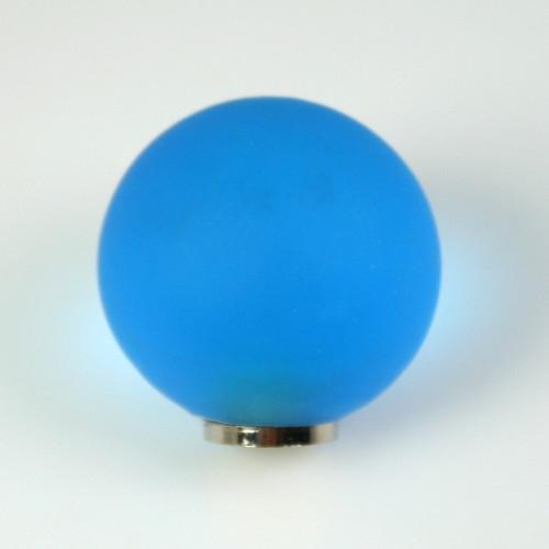 Maniglia pomello sfera satinata turchese Ø25 vetro di Murano con filettatura M4 femmina