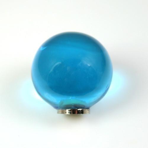 Maniglia pomello sfera turchese Ø20 vetro di Murano con filettatura M4 femmina