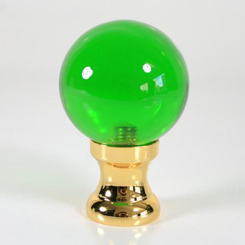 Maniglia pomello sfera verde scuro Ø50 vetro di Murano rocchetto oro.