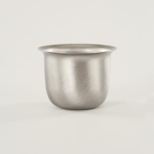 Mezzo bicchierino E27 nickel spazzolato Ø40 mm foro 10mm per portalampada lampadari