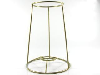 Montatura per paralume 12x8x16 cm finitura dorata con attacco per ghiera E14