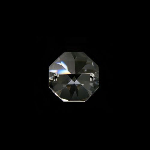 Ottagono 14 mm cristallo sfaccettato due fori -Asfour 1080-