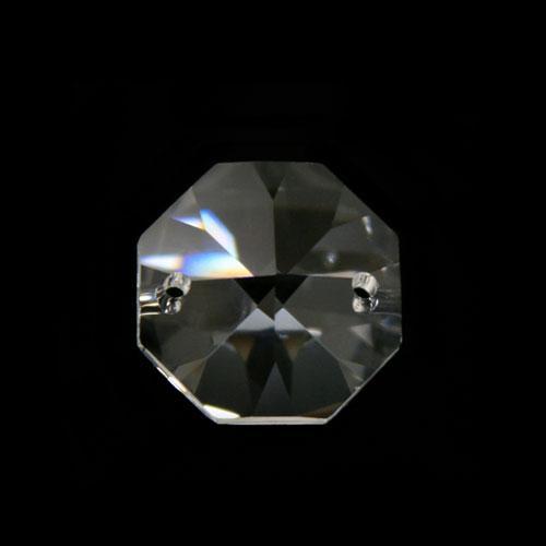 Ottagono 22 mm cristallo sfaccettato due fori -Asfour 1080-