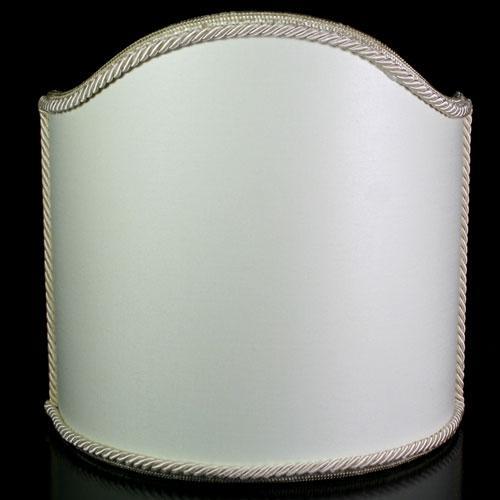 Paralume ventola L20 x h20 cm - tessuto avorio con bordura avorio - attacco E14