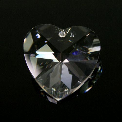 Pendaglio cuore Swarovski Cristallo Trasparente 18 mm – 6228 -