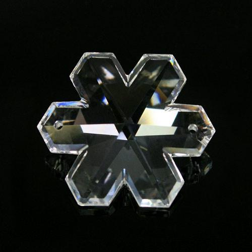 Pendaglio fiocco di neve Swarovski Cristallo Trasparente 30 mm, 2 fori - 8811 -