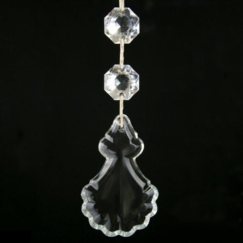 Pendente strenna decorativa con cristalli e pupa in cristallo veneziano