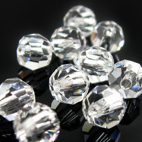 Perla 14 mm sfaccettata cristallo -Asfour 1502-