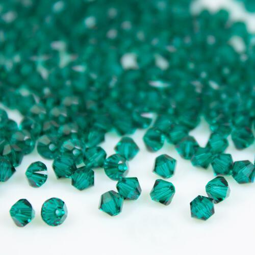 Perla bicono Emerald 4 mm cristallo Swarovski 5328 bead