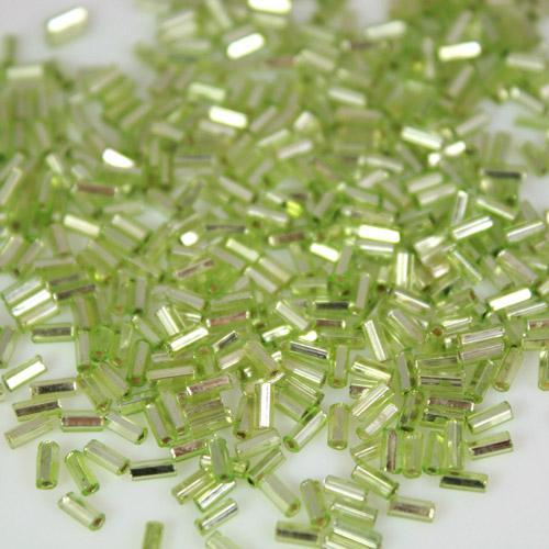 Perline di conteria cannette verde chiaro 4 mm vetro di Murano