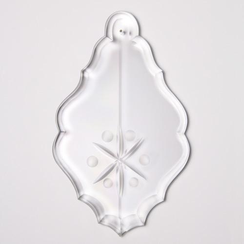 Placca pendente cristallo di Boemia stile barocco h 140 mm molatura artigianale