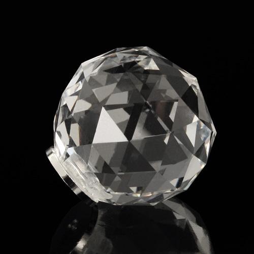 Pomello cristallo molato Ø20 colore puro attacco M4 femmina nickel
