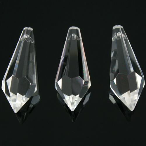 Prisma pendente 38 mm colore puro trasparente, vetro cristallo sfaccettato molato