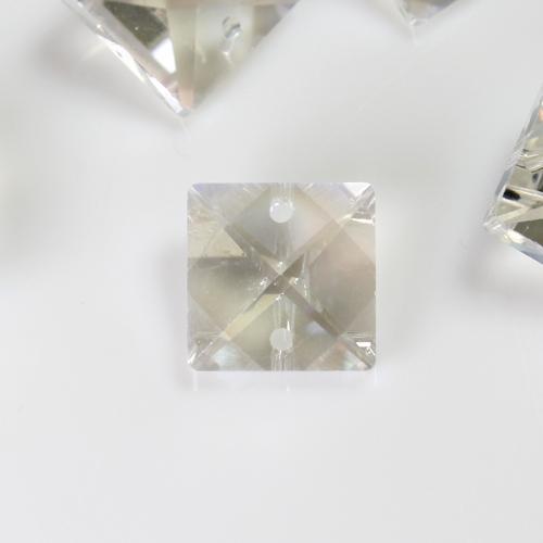 Quadruccio 14 mm aurora boreale cristallo vetro sfaccettato 2 fori
