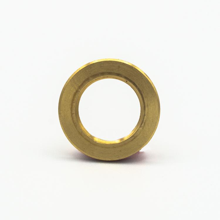 Rondella piana filettata, foro 1/4 gas ottone grezzo, diametro esterno Ø 20x2 mm