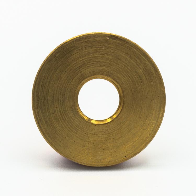 Rondella piana Ø30x2 mm filetto M10x1 ottone grezzo