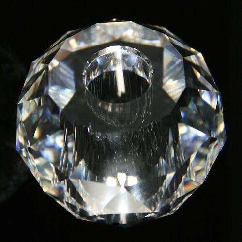 Sfera in cristallo, distanziatore strass originale Swarovski Ø 50, h 39 mm, foro Ø 11 mm.