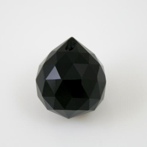 Sfera sfaccettata 20 mm vetro molato nero