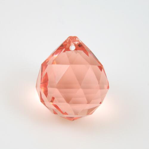 Sfera sfaccettata 20 mm vetro molato rosa antico