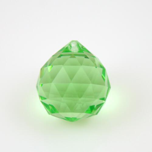 Sfera sfaccettata 20 mm vetro molato verde