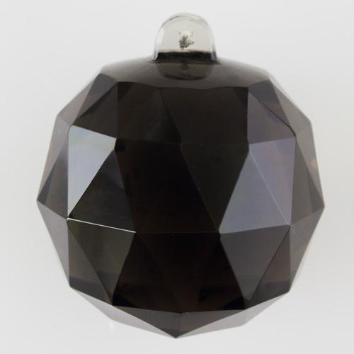 Sfera sfaccettata in colore grigio scuro di Boemia Ø70 mm. Per restauri antichi e ricambi vintage.