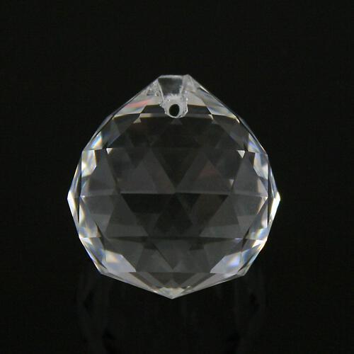 Sfera sfaccettata Ø30 mm in vetro molato color cristallo