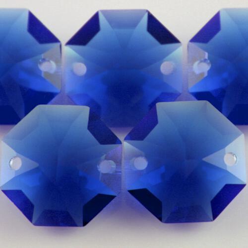 Swarovski - Cristallo ottagono doppio foro Dark Sapphire 14 mm - 8116 -