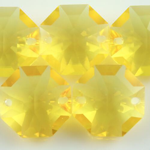 Swarovski - Cristallo ottagono doppio foro Light Topaz 14 mm - 8116 -