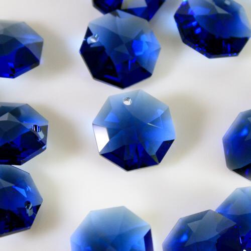Swarovski - Cristallo ottagono foro singolo Dark Sapphire 14 mm - 8115 -