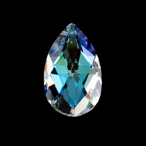 Swarovski pendente mandorla sfaccettata, taglio classico cristallo Aurora Boreale 28 mm - 8721 -