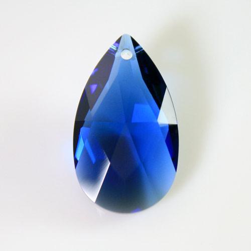 Swarovski pendente mandorla sfaccettata, taglio classico cristallo Dark Sapphire 28 mm - 8721 -
