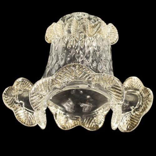 Tazza ricambio in vetro di Murano Ø20 cm color cristallo e oro MD