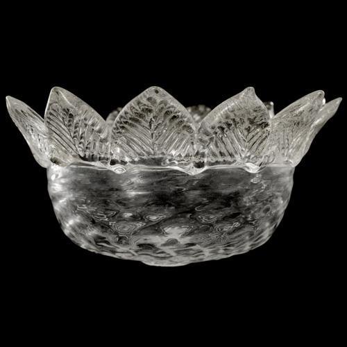 Tazza ricambio vetro Murano Ø16 cm color cristallo veneziano MD a 12 punte.