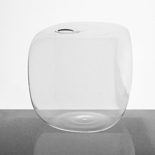 Vaso in vetro a cubo 18 cm cristallo trasparente. Porta fiore, diffusore porta essenze, decorazione