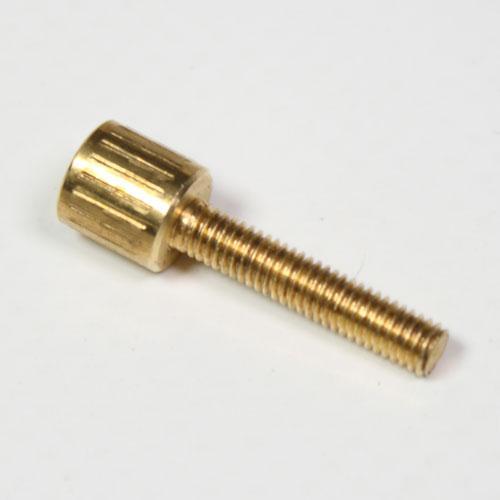 Vite estetica testa cilindrica zigrinata M3x15mm ottone