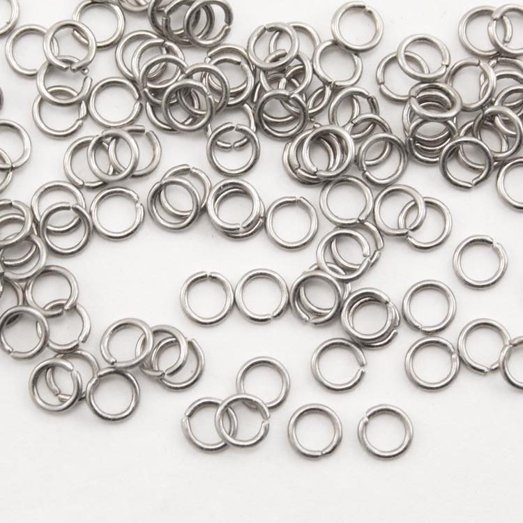 Anello Ø5 mm nickelato per catene di cristalli, perle e vetri.