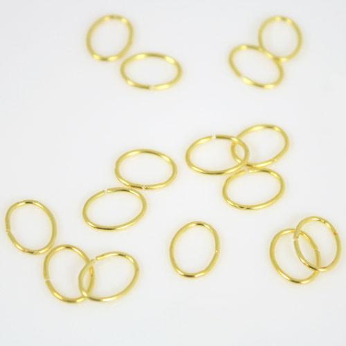 Anello ovale schiacciato 9 mm in ottone brillante