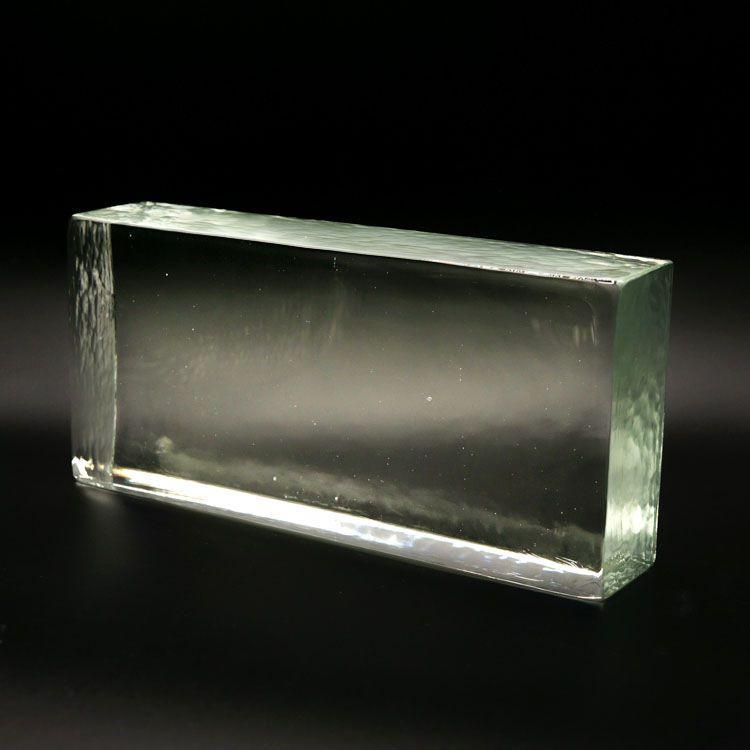 Blocco mattone in vetro di Murano cristallo trasparente