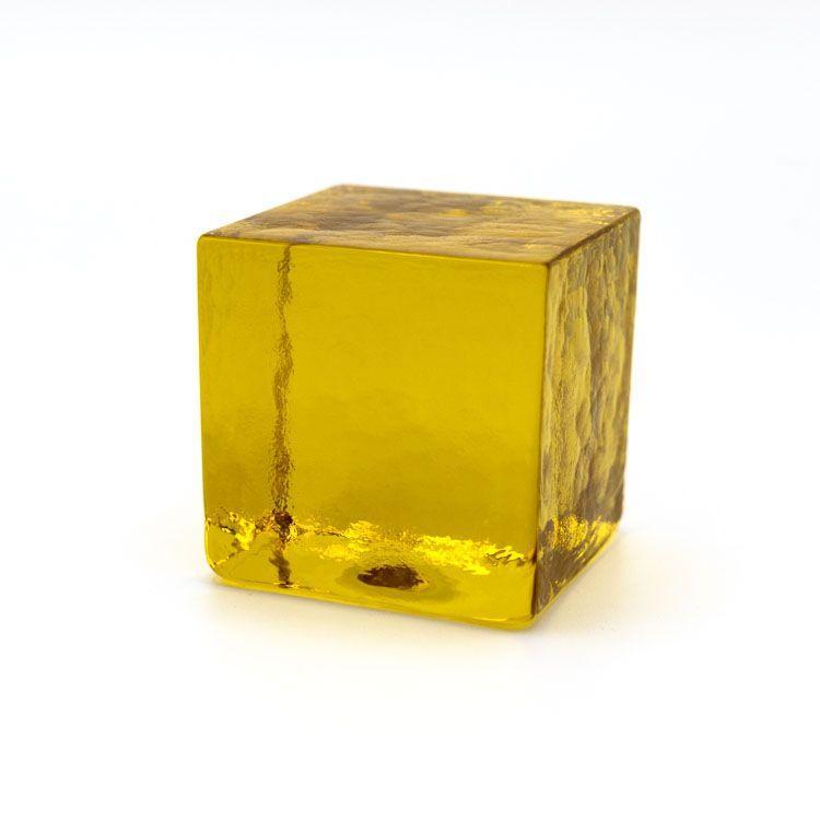 Blocco mattone sanpietrino ambra trasparente vetro Murano