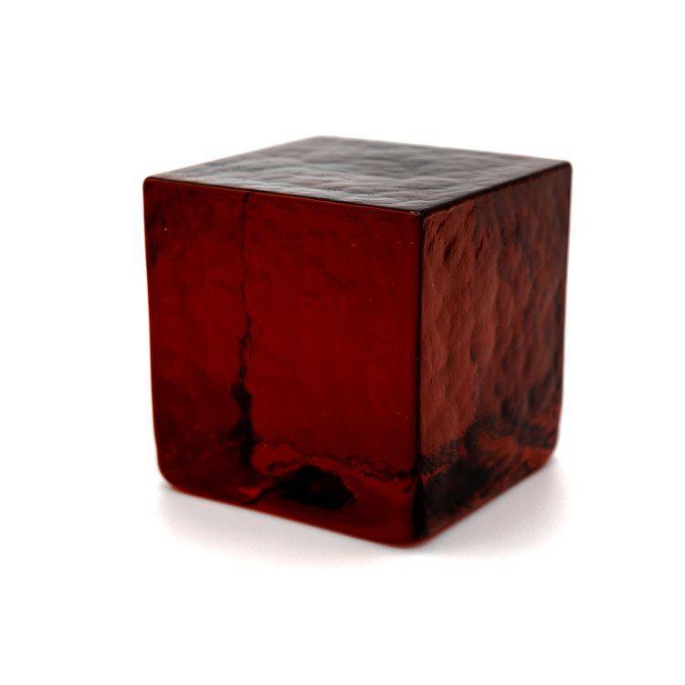 Blocco mattone sanpietrino rosso trasparente vetro Murano