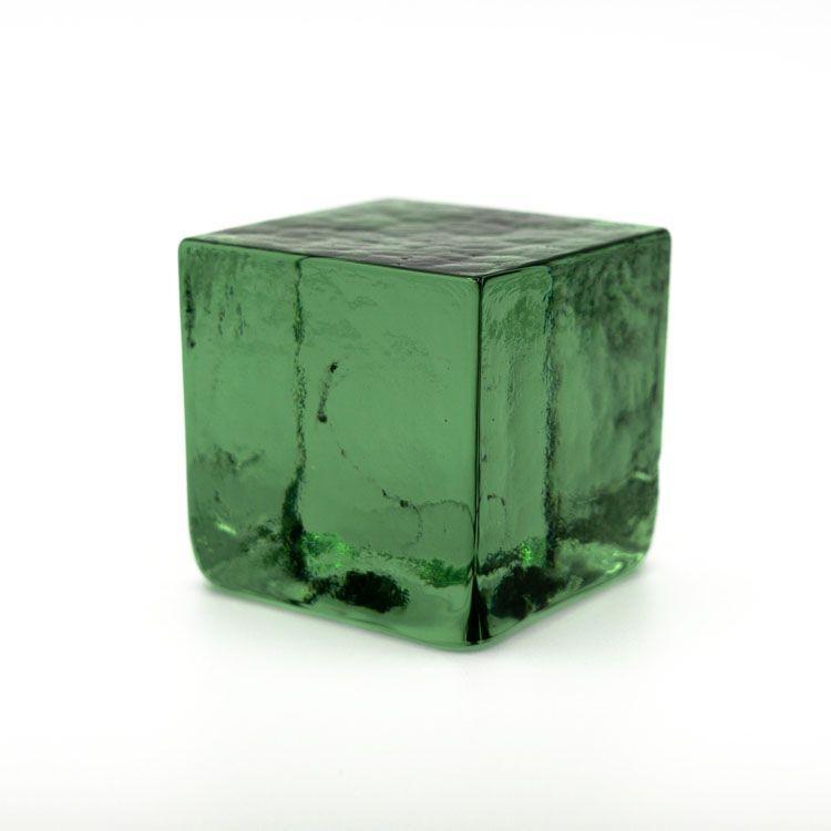 Blocco mattone sanpietrino verde minerale trasparente vetro Murano